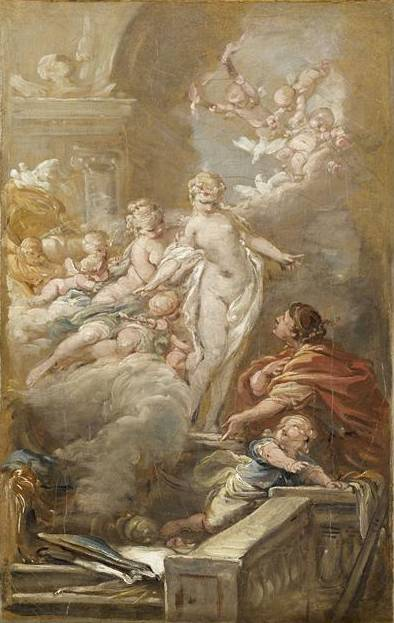 皮格马利翁的Et GALATEE 通过 Jean Baptiste Deshays (1729-1765, France)