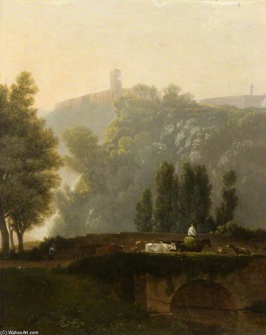 风景  和 数字 通过 Augustus Wall Callcott (1779-1844, United Kingdom)