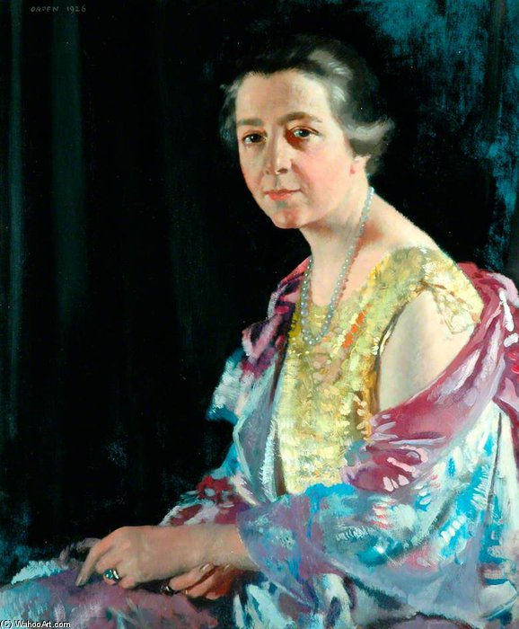 托马斯夫人豪沃思 通过 William Newenham Montague Orpen (1878-1931, Ireland) | 幀畫冊專輯 | ArtsDot.com