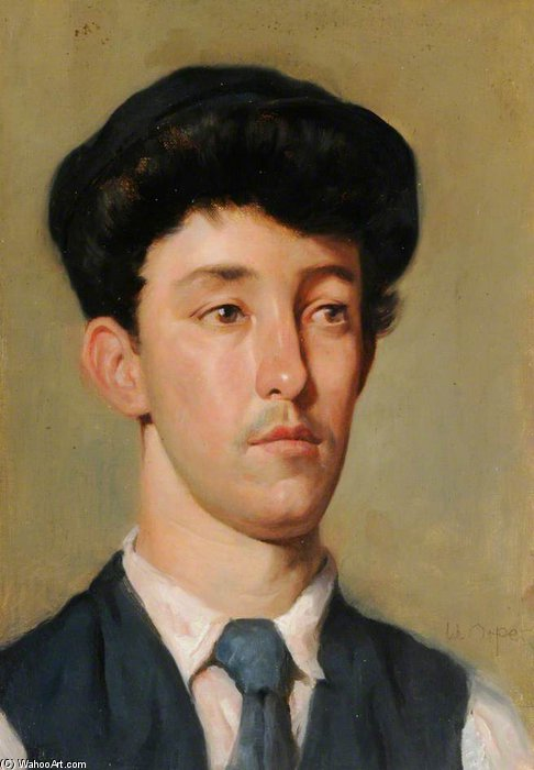 肖像  青年 通过 William Newenham Montague Orpen (1878-1931, Ireland) | 畫再現 | ArtsDot.com