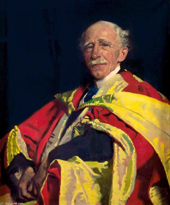 J.刘汉铨弗莱明爵士 通过 William Newenham Montague Orpen (1878-1931, Ireland)