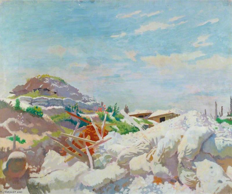 枪手的住房,Thiepval 通过 William Newenham Montague Orpen (1878-1931, Ireland)