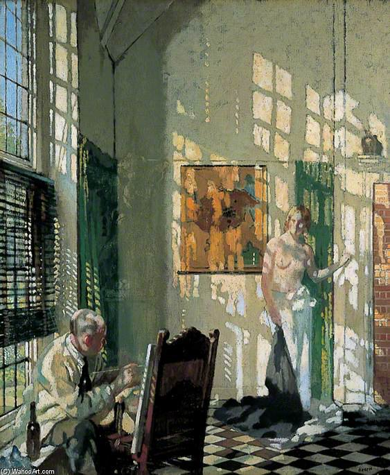 的  工作室 通过 William Newenham Montague Orpen (1878-1931, Ireland)