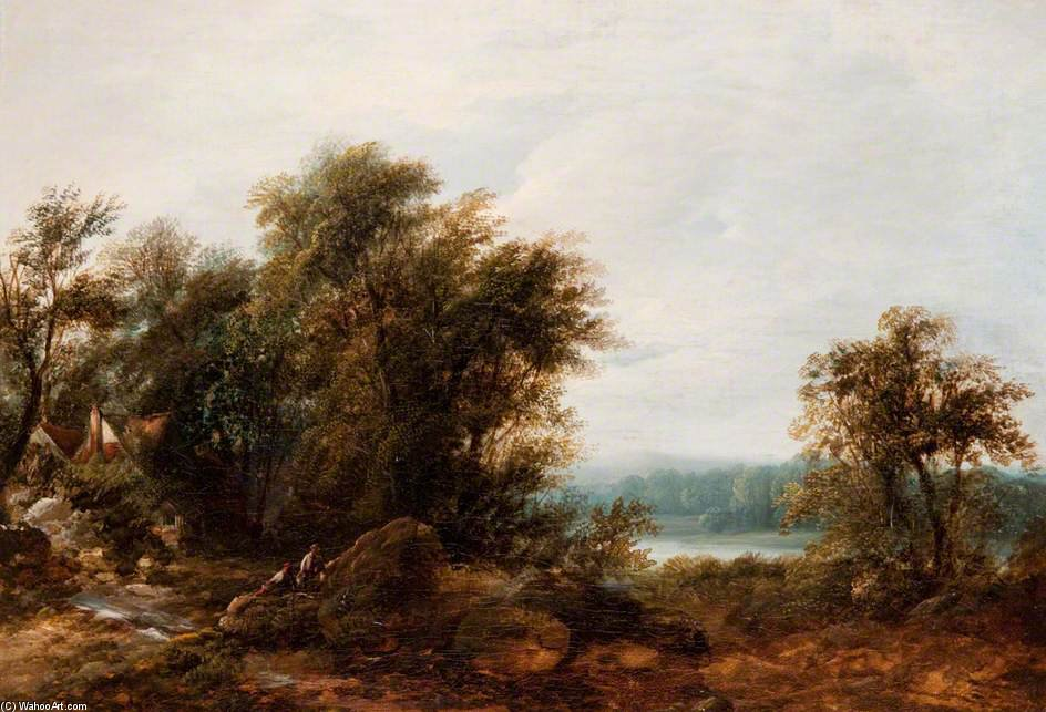 风景 - (9) 通过 Patrick Nasmyth (1787-1831, United Kingdom)