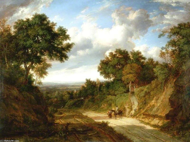 风景  与 数字 通过 Patrick Nasmyth (1787-1831, United Kingdom)