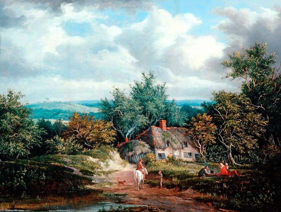乡村 现场 通过 Patrick Nasmyth (1787-1831, United Kingdom)