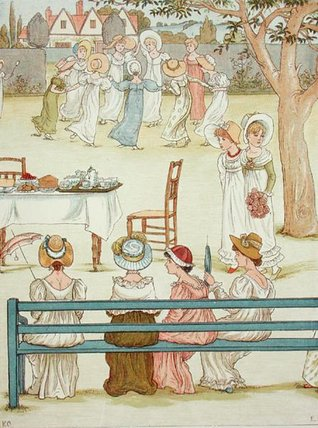 一个  花园 派对 通过 Kate Greenaway (1846-1901, United Kingdom)