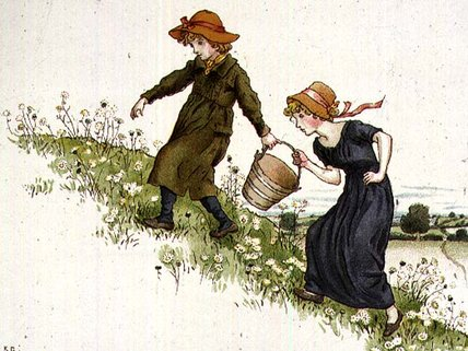 杰克和吉尔 通过 Kate Greenaway (1846-1901, United Kingdom)