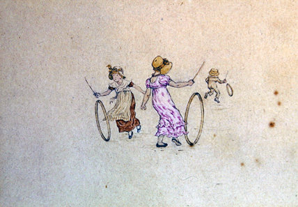 三月插图年历, 1889 通过 Kate Greenaway (1846-1901, United Kingdom)