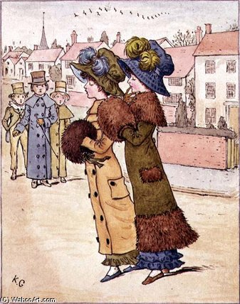 `out`  为 走路 通过 Kate Greenaway (1846-1901, United Kingdom)