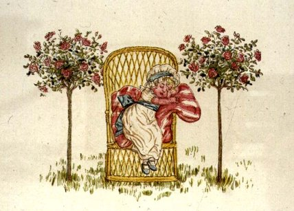 睡眠 通过 Kate Greenaway (1846-1901, United Kingdom)