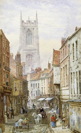 视图的IRONGATE,德比 通过 Louise Rayner (1832-1924, United Kingdom) | ArtsDot.com