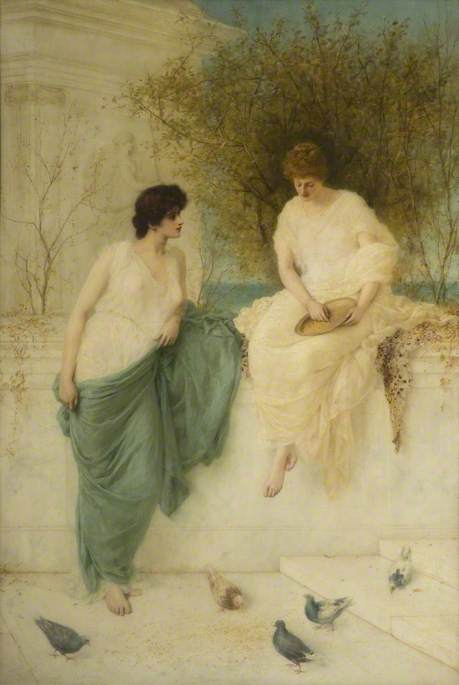 饲养的鸽子 通过 Henry Thomas Schafer (1873-1915, France)