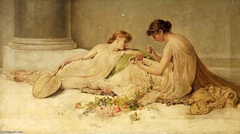 编织花环 通过 Henry Thomas Schafer (1873-1915, France)