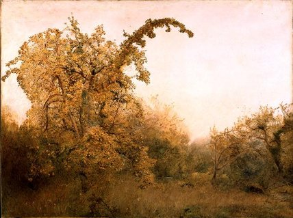 的  老 `pear`  树 通过 John William North (1842-1924, United Kingdom)