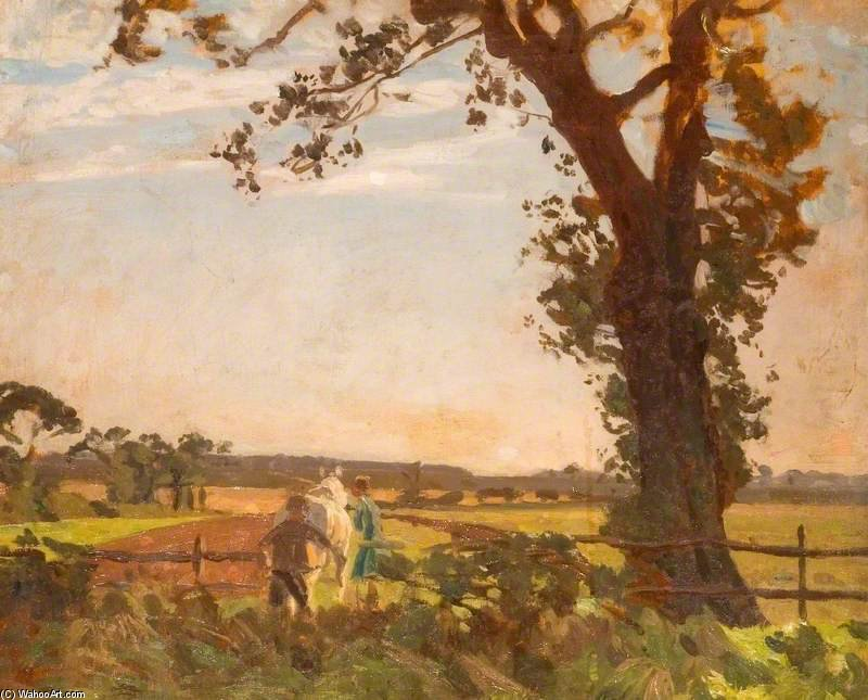 犁 通过 Algernon Talmage (1871-1939, United Kingdom)