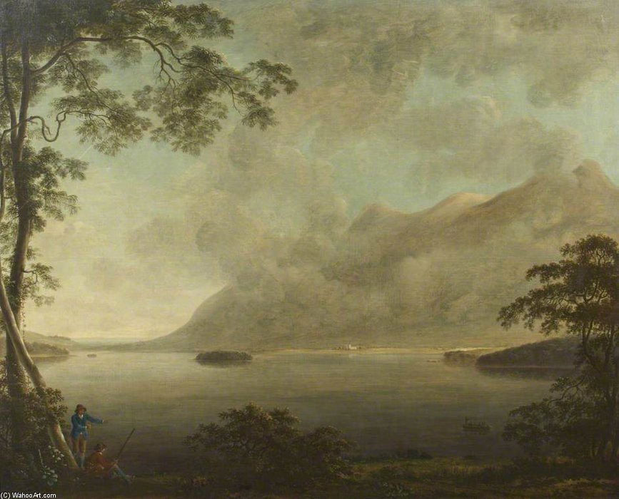 风景 –  查看 Derwentwater湖 通过 Anthony Devis (1729-1816, United Kingdom) | 傑作拷貝 | ArtsDot.com