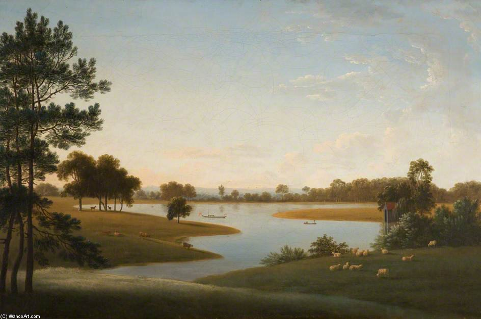Tabley - 公园和光 通过 Anthony Devis (1729-1816, United Kingdom)