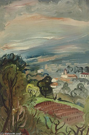 景观 通过 Emile Othon Friesz (1879-1949, France) | 幀畫冊專輯 | ArtsDot.com