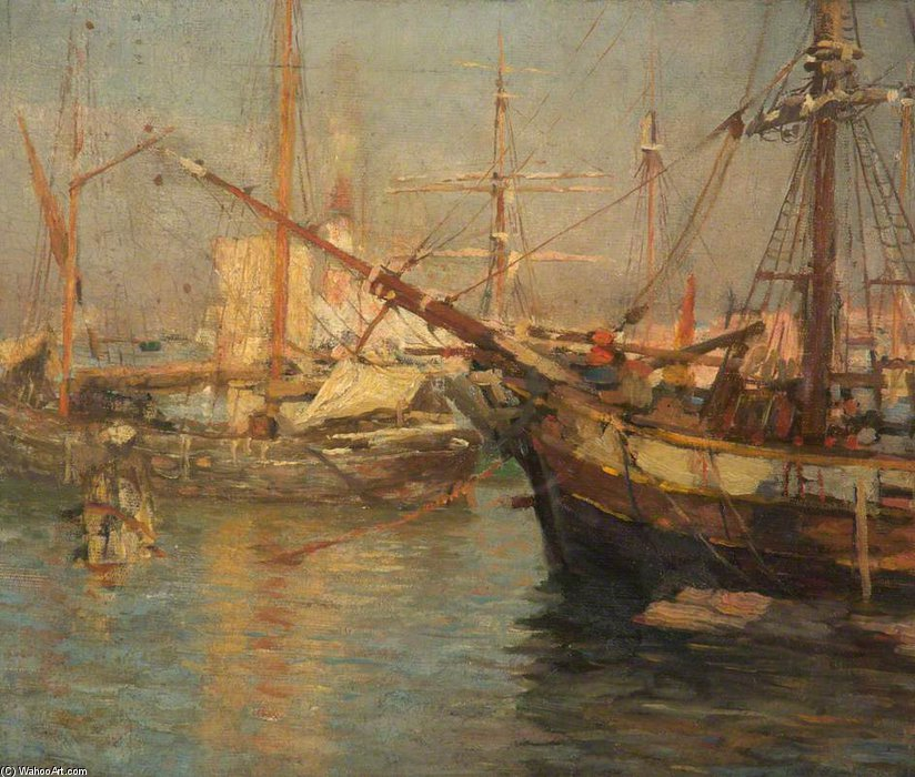 "在 ""威尼斯 通过 Frederick William Jackson (1859-1918, United Kingdom)"
