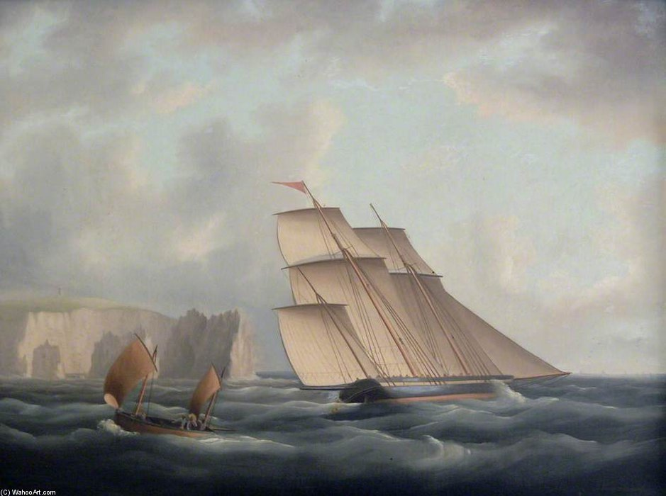 三把船桅关闭针 通过 Thomas Buttersworth (1768-1842, United Kingdom)