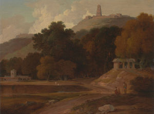 Thomas And William Daniell - `hilly` 风景 在 印度