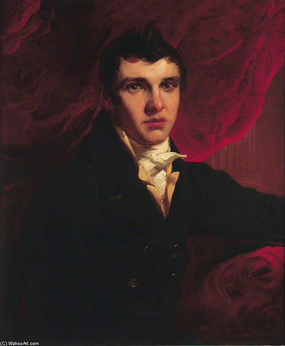 亚伯拉罕Goldsmid 通过 George Henry Harlow (1787-1819, United Kingdom)