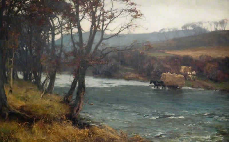 风景 通过 David Farquharson (1839-1907, United Kingdom)