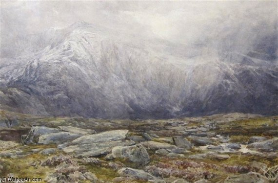 丽茵Idwal,暴风雪 通过 Thomas Collier (1620-1691, United Kingdom)