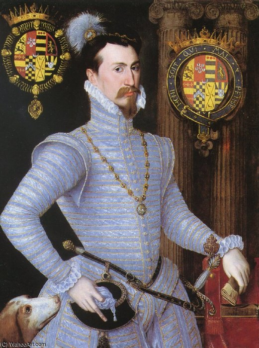 伯爵莱斯特。 通过 Robert Dudley (1826-1909, United Kingdom)