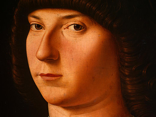 肖像年轻男子 通过 Antonello Di Giovanni Di Antonio (Antonello Da Messina) (1430-1479, Italy)