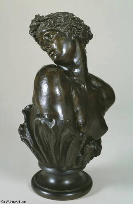 clytie(细节 - ) 通过 Frederick Waters (William) Watts (1800-1870, United Kingdom)