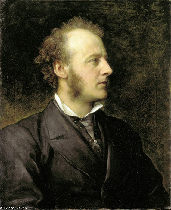 肖像约翰·埃弗雷特米莱斯爵士, 1871 通过 Frederick Waters Watts (1800-1870, United Kingdom)