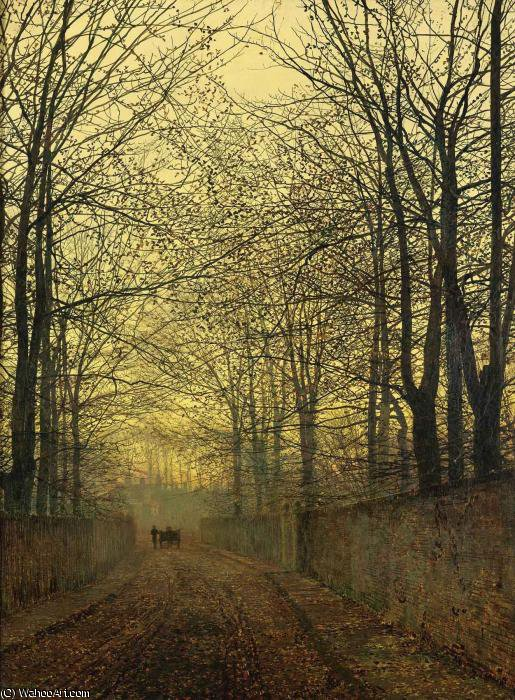 十月黄金 通过 John Atkinson Grimshaw (1836-1893, United Kingdom)