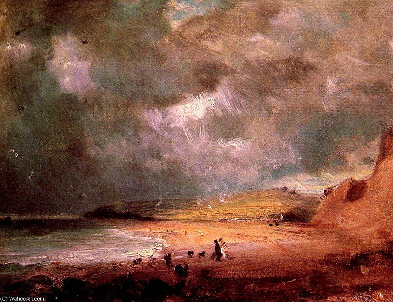 顺序 畫再現 : 韦茅斯湾 通过 John Constable (1776-1837, United Kingdom) | ArtsDot.com