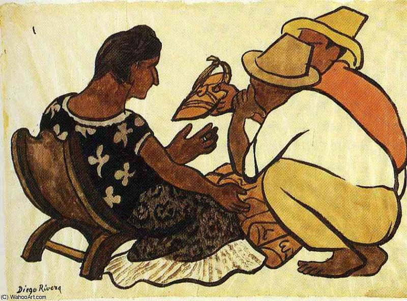 无 (9561) 通过 Diego Rivera (1886-1957, Mexico)