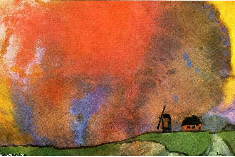 无 (8777) 通过 Emile Nolde (1867-1956, Germany)