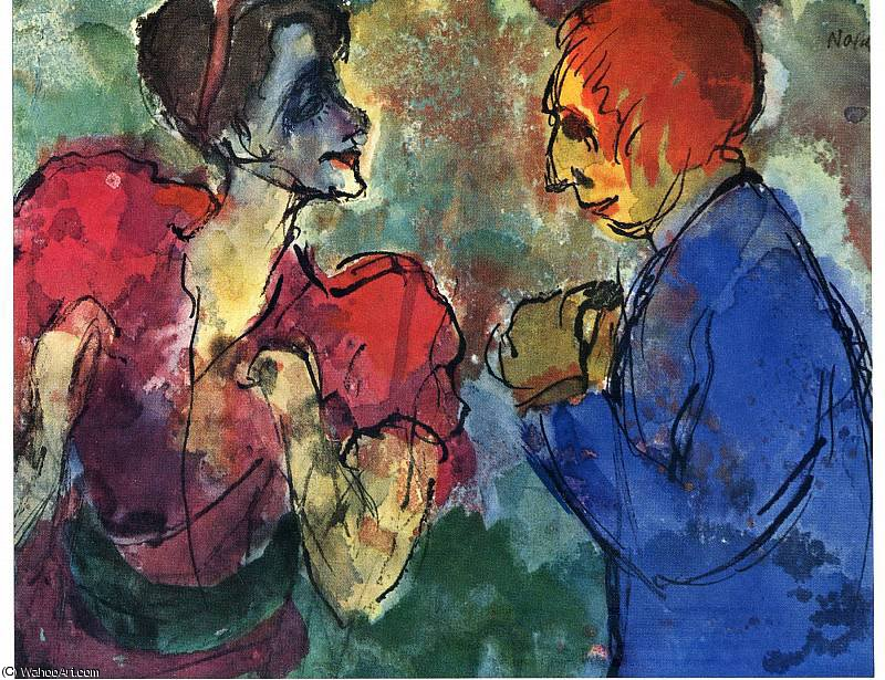 无 (6882) 通过 Emile Nolde (1867-1956, Germany)