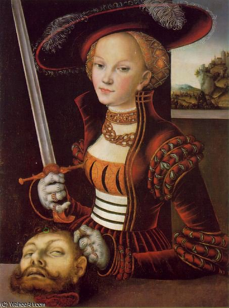 朱迪思得胜 - -, 1530 通过 Lucas Cranach The Elder (1472-1553, Germany)