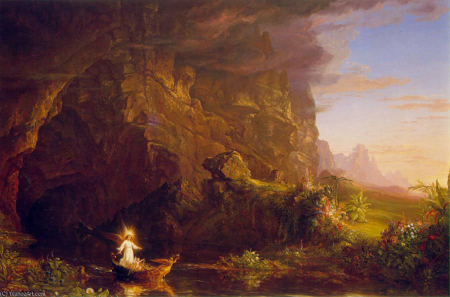 远航 生活 童年 ATC 通过 Thomas Cole (1801-1848, United Kingdom)