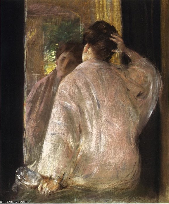 多萝西(镜像) 通过 William Merritt Chase (1849-1916, United States) | ArtsDot.com