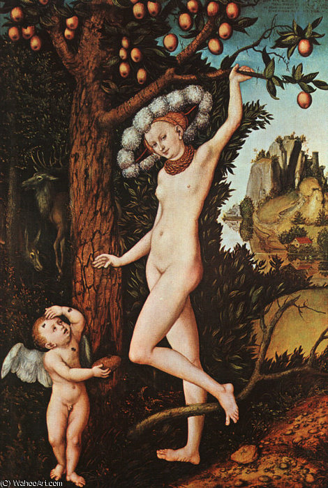丘比特抱怨金星,全国GALLER 通过 Lucas Cranach The Elder (1472-1553, Germany)