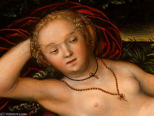弹簧的若虫,Detalj后 - (2), 1537 通过 Lucas Cranach The Elder (1472-1553, Germany)