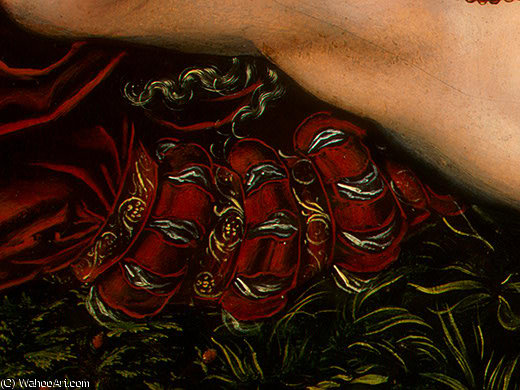 仙女  的 春天 , detalj后 - ( 3 , ), 1537 通过 Lucas Cranach The Elder (1472-1553, Germany)