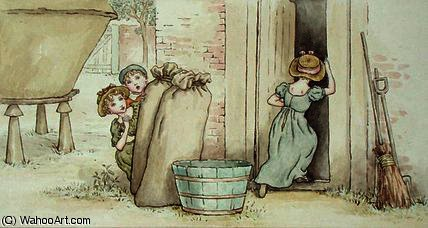 捉迷藏 通过 Kate Greenaway (1846-1901, United Kingdom)
