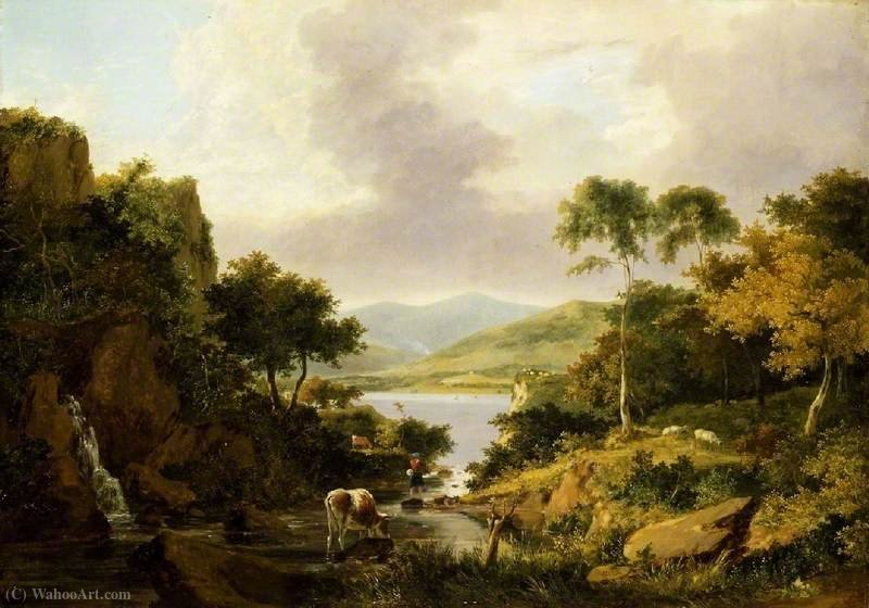 海湾etive,argyllshire 通过 George Vincent (1796-1831, United Kingdom)
