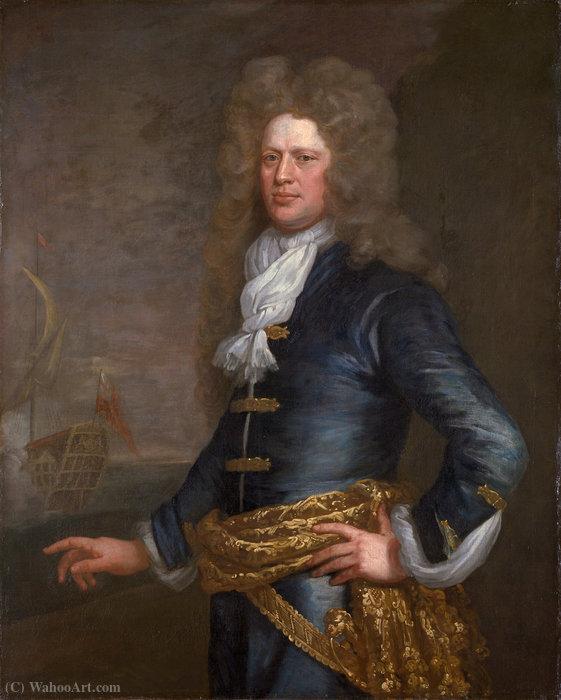 肖像约翰·Balchen爵士 通过 Jonathan Richardson (1667-1745, United Kingdom)
