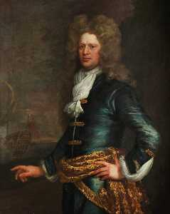 Jonathan Richardson The Elder - 海军上将 先生 约翰balchen ( 1670–1744 )