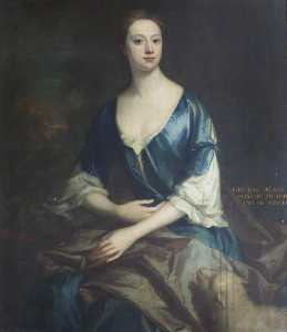 Jonathan Richardson The Elder - 伊丽莎白夫人 塞西尔 ( 1706–1733 ) , aislabie女士